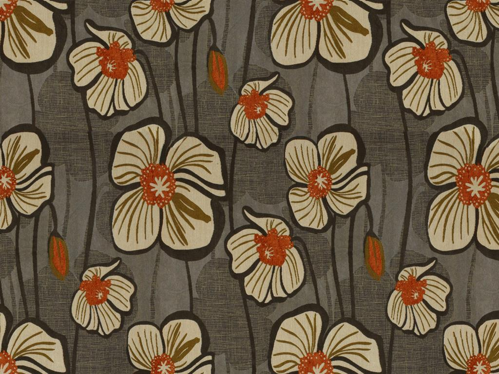 England Furniture Fabrics Flower Power Moonglow England
