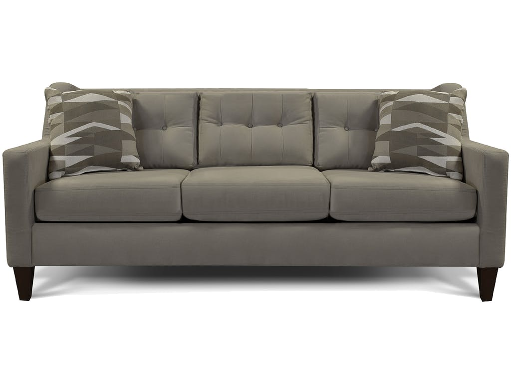 Gray Tufted Sofa